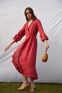 Hoss Intropia Mitjana. Vestido largo cruzado Rojo
