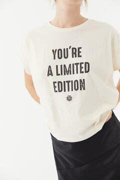 Hoss Intropia Raset. Camiseta de algodón orgánico con mensaje Blanco