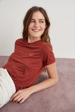 Hoss Intropia Madaleta. Camiseta bordado Hoss Intropia Rojo