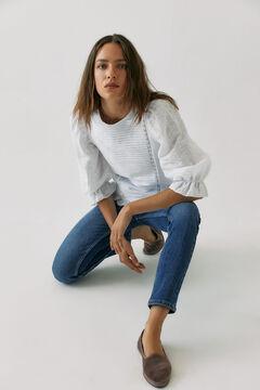 Hoss Intropia Tena. Camiseta algodón orgánico romántica Beige