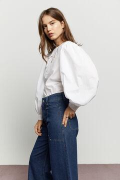 Hoss Intropia Bausen. Blusa algodón bordada Blanco