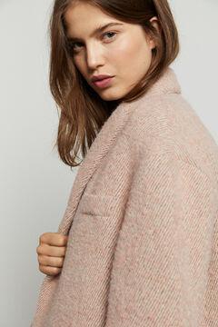 Hoss Intropia Nuovo. Abrigo largo cuello esmoquin Rosa