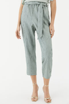Hoss Intropia Luna. Pantalón fluido textura Verde