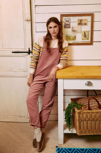 Spedla. Cotton corduroy dungarees with wave detail