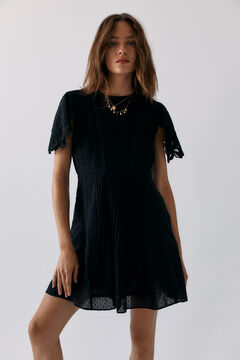 Hoss Intropia Etna. Vestido corto algodón romántico Negro