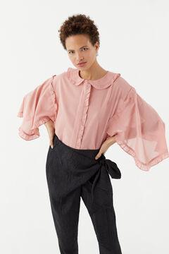 Hoss Intropia Roses. Blusa algodón cuello bebé Rosa
