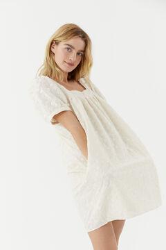 Hoss Intropia Martina. Vestido corto de algodón bordado Beige