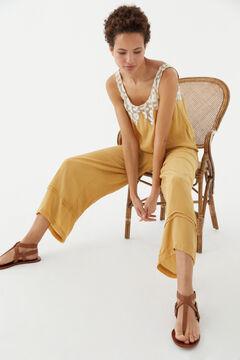 Hoss Intropia Chania. Pantalón culotte fluido Amarillo