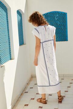 Hoss Intropia Marsal. Vestido midi de algodón bordado Blanco