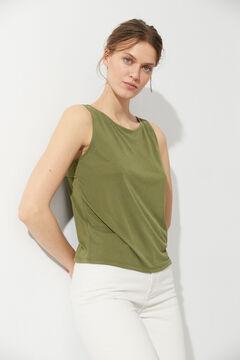 Hoss Intropia Bosc. Camiseta de modal con abertura espalda Gris