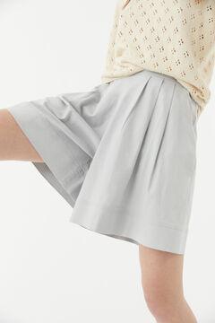 Hoss Intropia Tropea. Pantalón bermuda corto cintura alta Gris