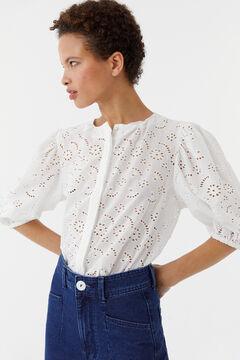 Hoss Intropia Nadala. Blusa de algodón en guipur Blanco