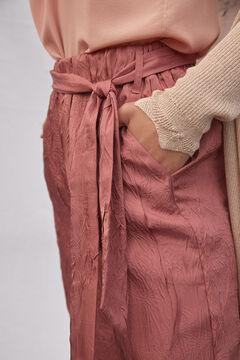 Hoss Intropia Luna. Pantalón fluido textura Rosa