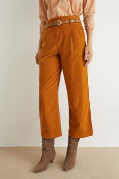 Hoss Intropia Anciles. Pantalón ancho algodón pana Rojo