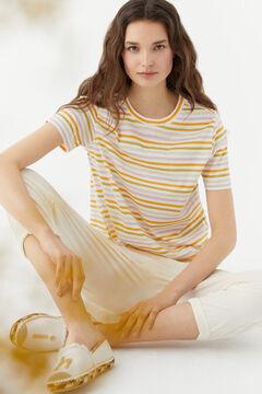 Hoss Intropia Espart. Camiseta manga corta algodón orgánico rayas Varios