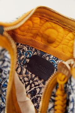 Hoss Intropia Aqua. Bolso mano algodón orgánico estampado Azul