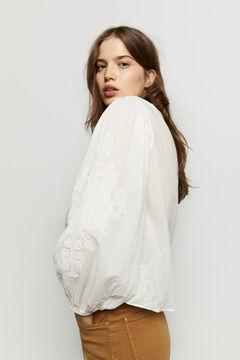 Hoss Intropia Ramis. Camisa algodón bordada Blanco