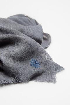 Hoss Intropia Liri. Fular liso de lana Azul