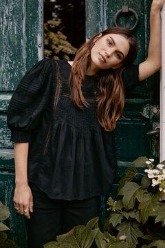 Hoss Intropia Fosca. Blusa algodón romántica Negro