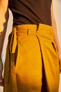 Hoss Intropia Lotu. Pantalón ancho cintura cruzada Gris