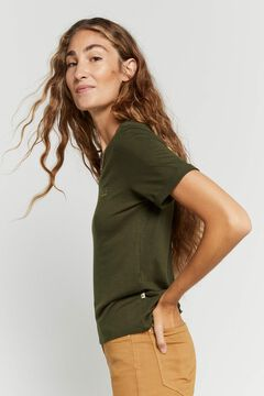 Hoss Intropia Madaleta. Camiseta bordado Hoss Intropia Verde