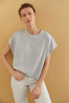 Hoss Intropia Prima. Camiseta algodón orgánico sisa abierta Gris
