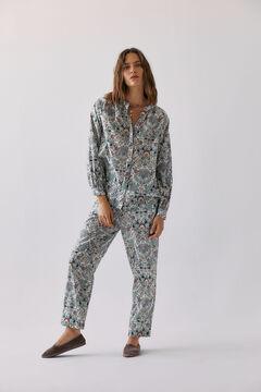 Conjunto camisa y pantalón estampados en algodón orgánico