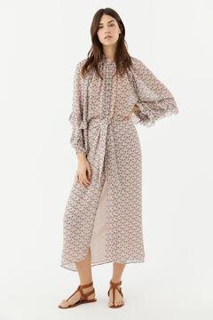 Conjunto de blusa y falda estampada